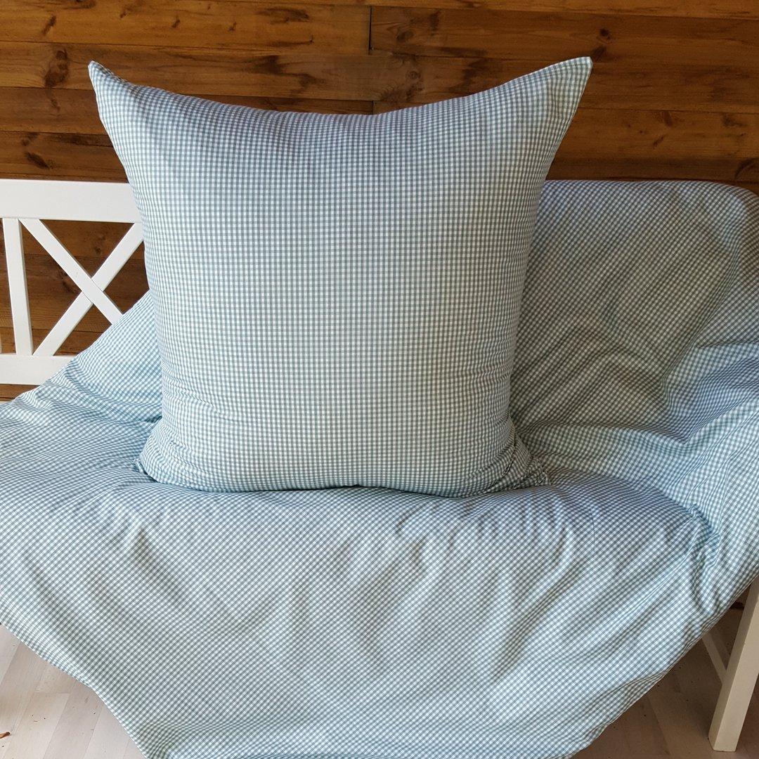 mini karo landhaus bettw sche jetzt kaufen auf wunschbettw sche. Black Bedroom Furniture Sets. Home Design Ideas