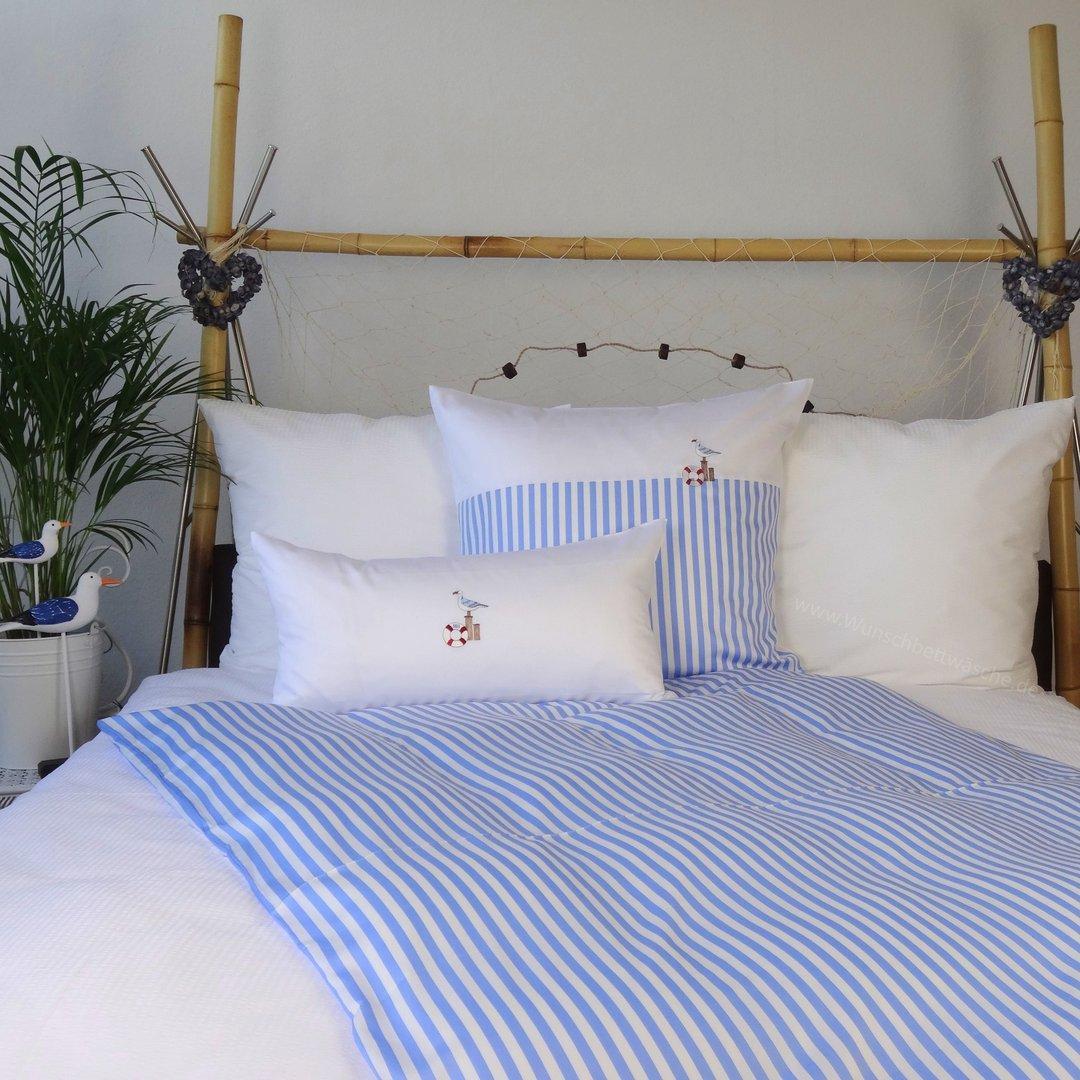 maritime bettw sche mit m we 135x200 80x80 www wunschbettw. Black Bedroom Furniture Sets. Home Design Ideas