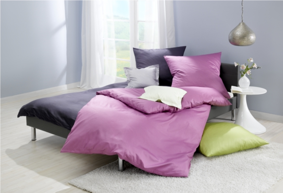 lorena mako satin bettw sche uni online auf wunschbettw. Black Bedroom Furniture Sets. Home Design Ideas