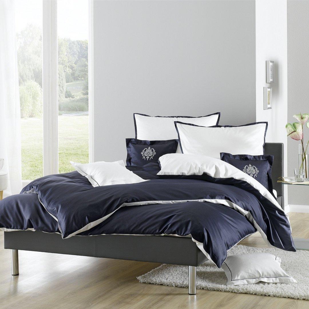 lorena bettw sche juliet 7916 marine blau wei wunschbettw sche. Black Bedroom Furniture Sets. Home Design Ideas