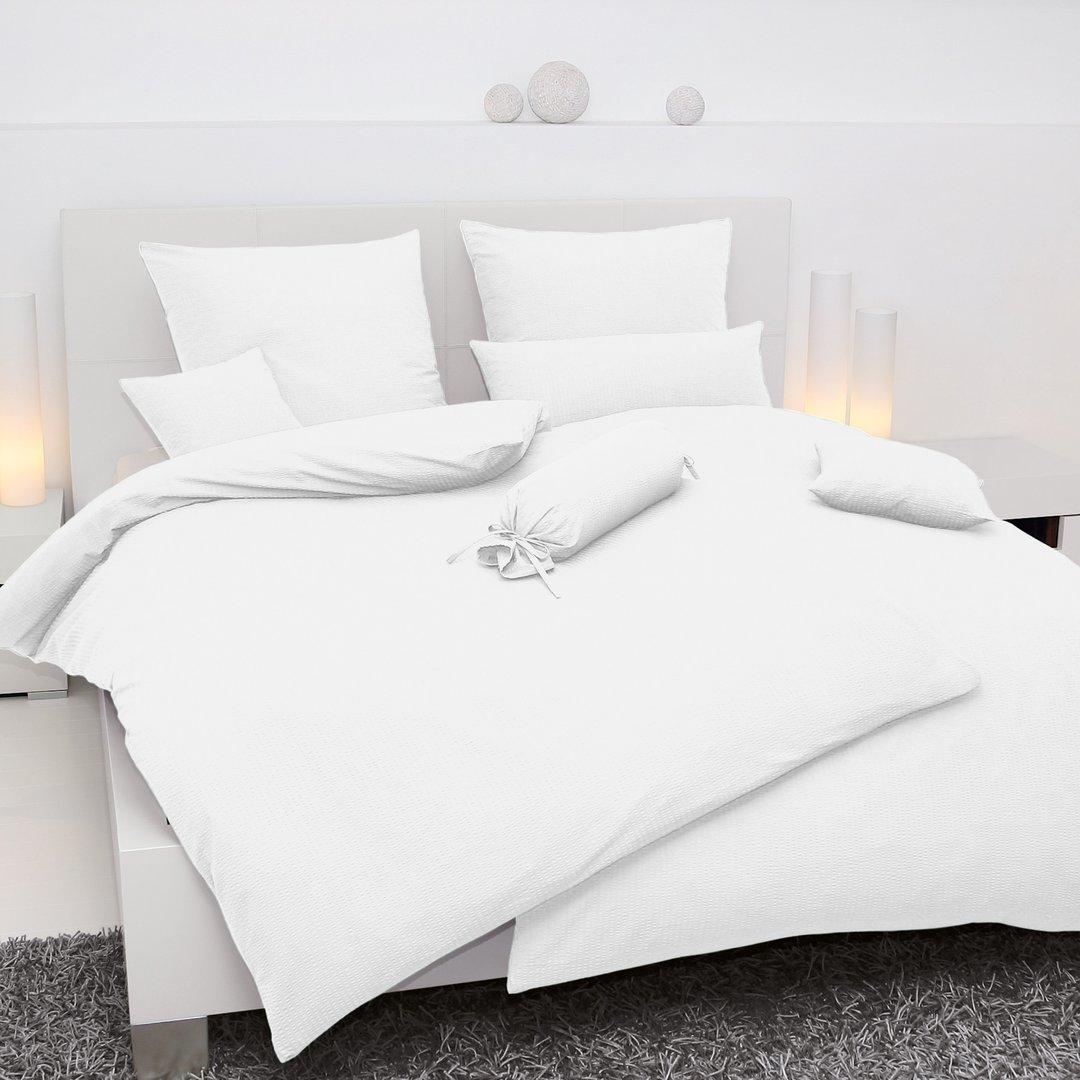 weisse seersucker bettw sche von janine besonders. Black Bedroom Furniture Sets. Home Design Ideas