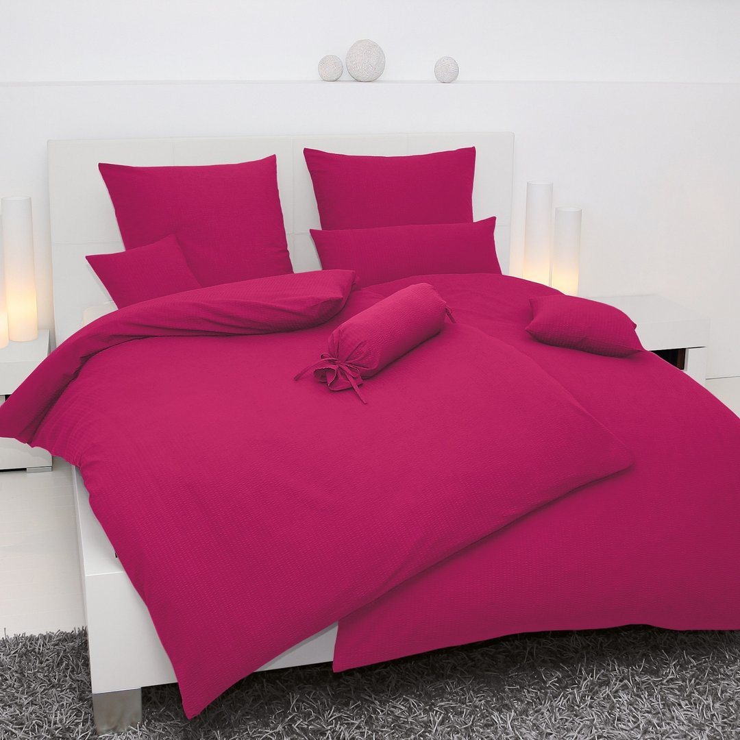 janine seersucker bettw sche fuchsia www wunschbettw. Black Bedroom Furniture Sets. Home Design Ideas