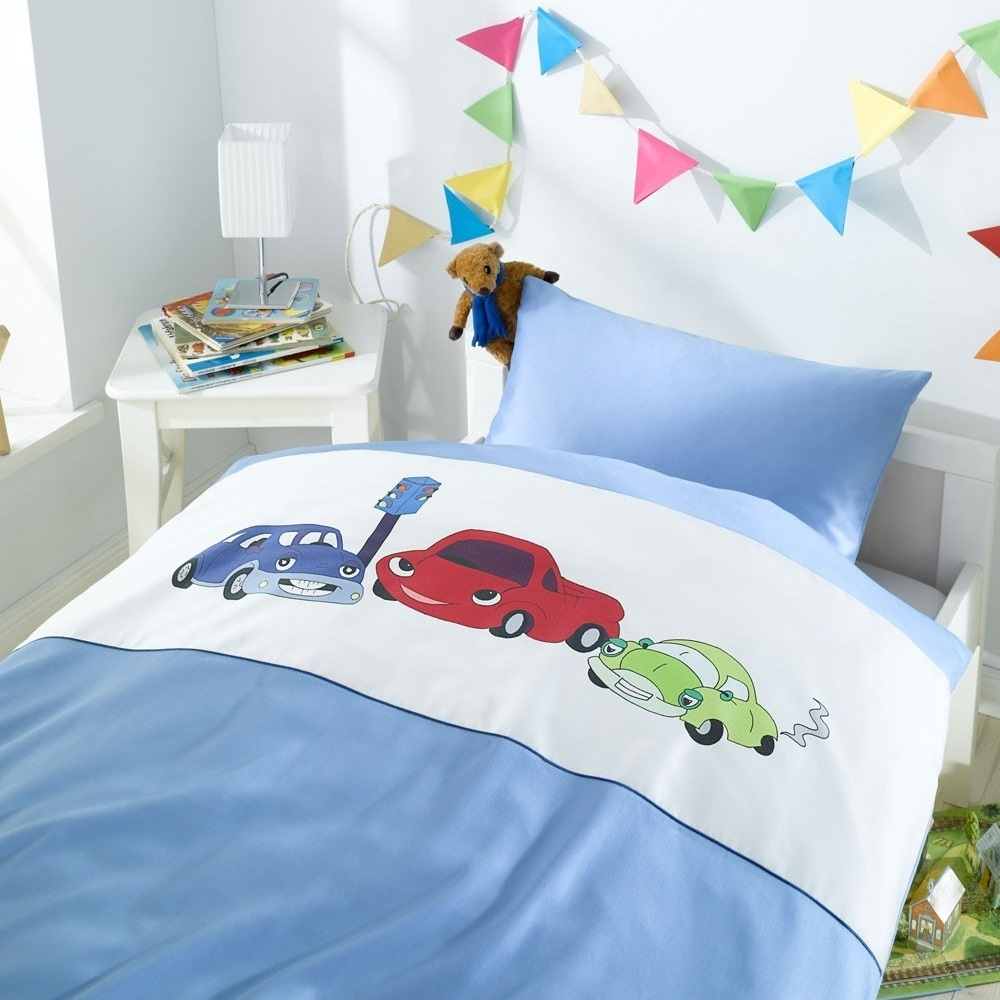 kinderbettw sche car race www wunschbettw. Black Bedroom Furniture Sets. Home Design Ideas