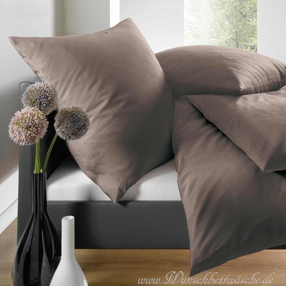 schlafgut mako satin bettw sche espresso www wunschbettw. Black Bedroom Furniture Sets. Home Design Ideas