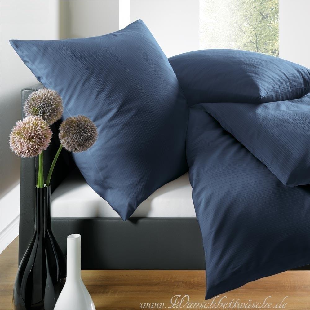 schlafgut uni mako satin bettw sche blau www wunschbettw. Black Bedroom Furniture Sets. Home Design Ideas