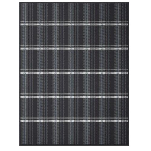 karrierte baumwolldecke in anthrazit www wunschbettw. Black Bedroom Furniture Sets. Home Design Ideas