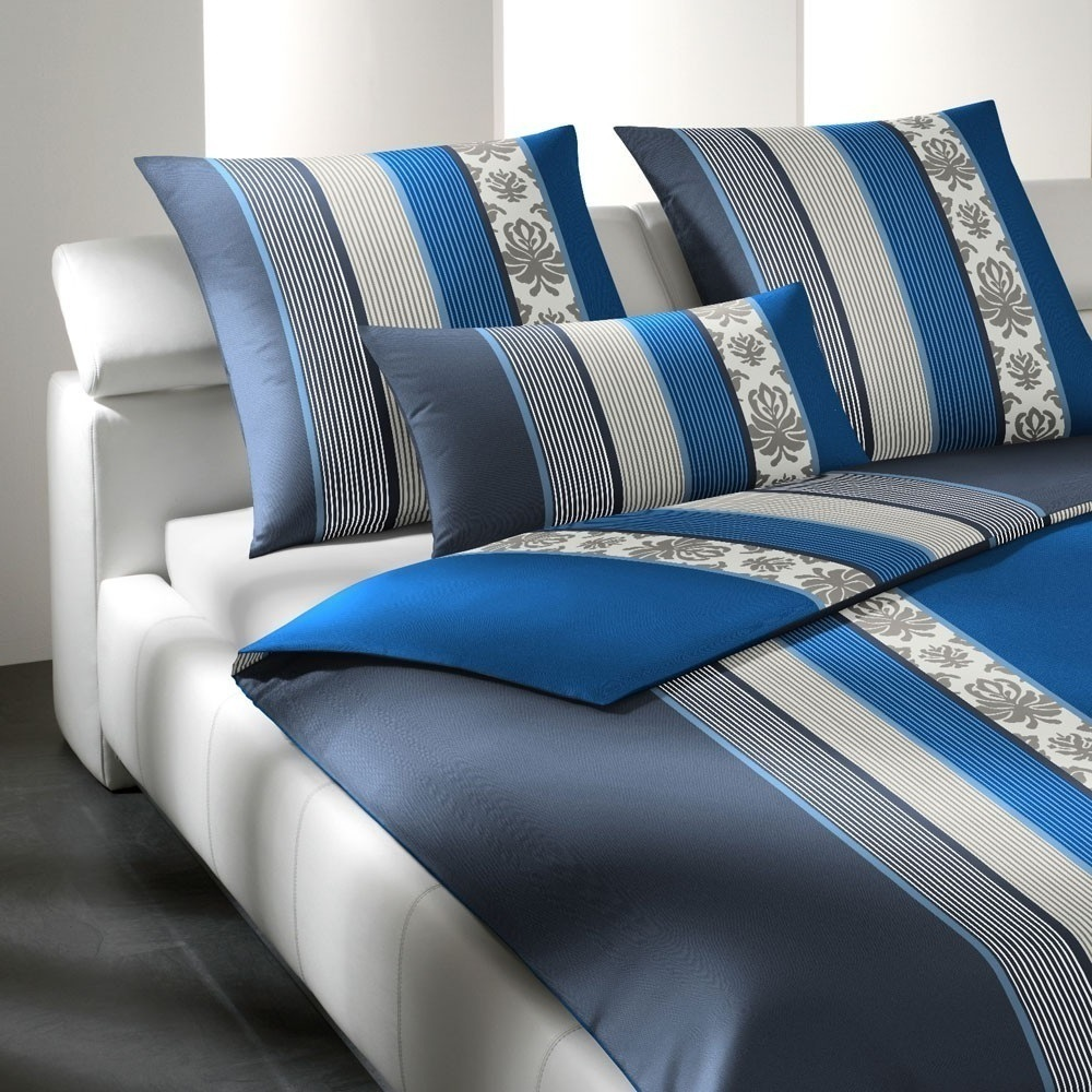 joop bettw sche ornament stripe indigo www. Black Bedroom Furniture Sets. Home Design Ideas