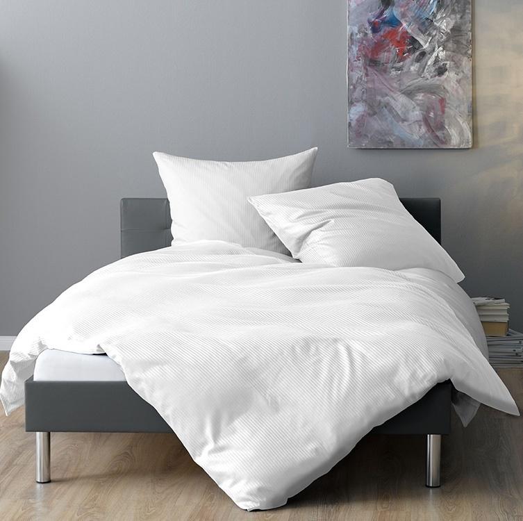 lorena streifen bettw sche venedig wei www wunschbettw. Black Bedroom Furniture Sets. Home Design Ideas