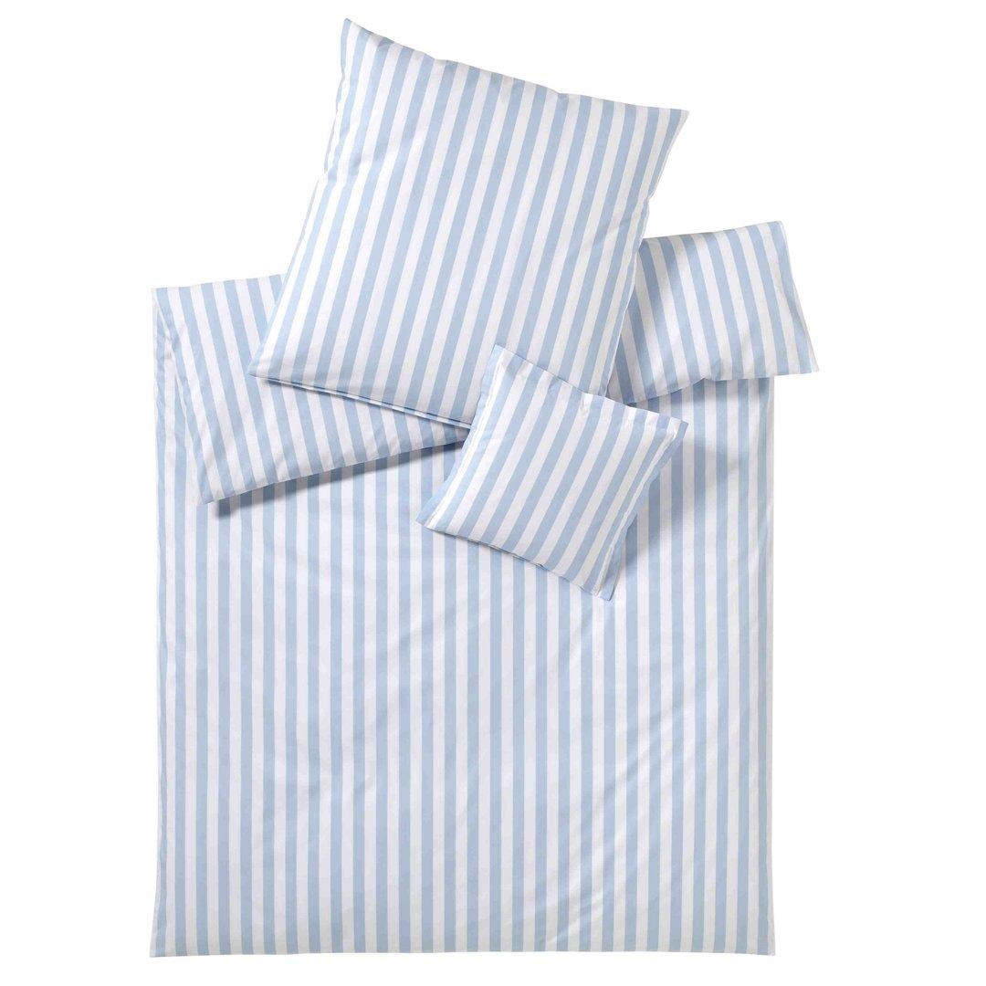 perkal streifen bettw sche hellblau elegante www wunschbettw. Black Bedroom Furniture Sets. Home Design Ideas