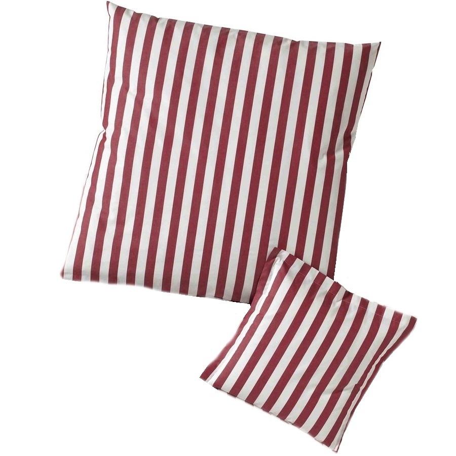 streifen kissenh llen in rot www wunschbettw. Black Bedroom Furniture Sets. Home Design Ideas