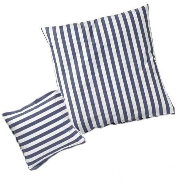 streifen kissenh llen in marine www wunschbettw. Black Bedroom Furniture Sets. Home Design Ideas