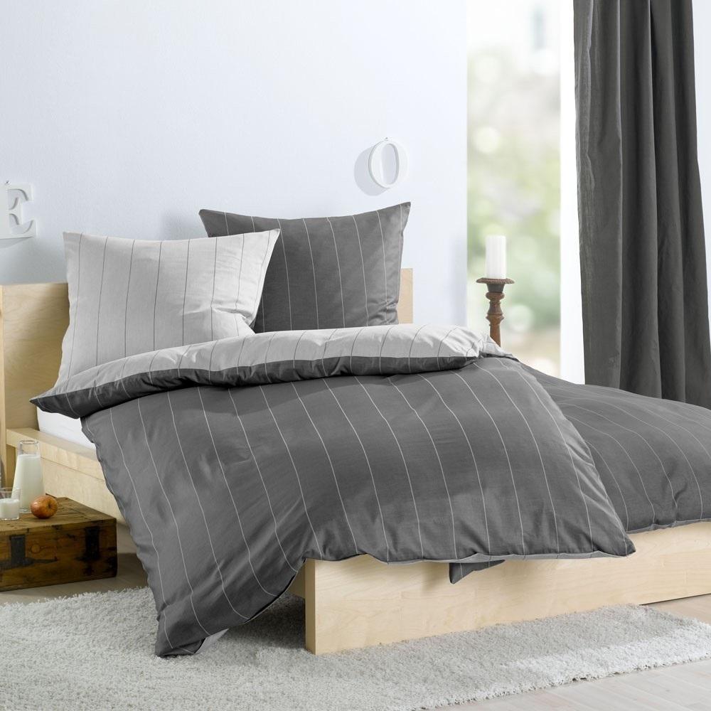 wendebettw sche streifen anthrazit www wunschbettw. Black Bedroom Furniture Sets. Home Design Ideas