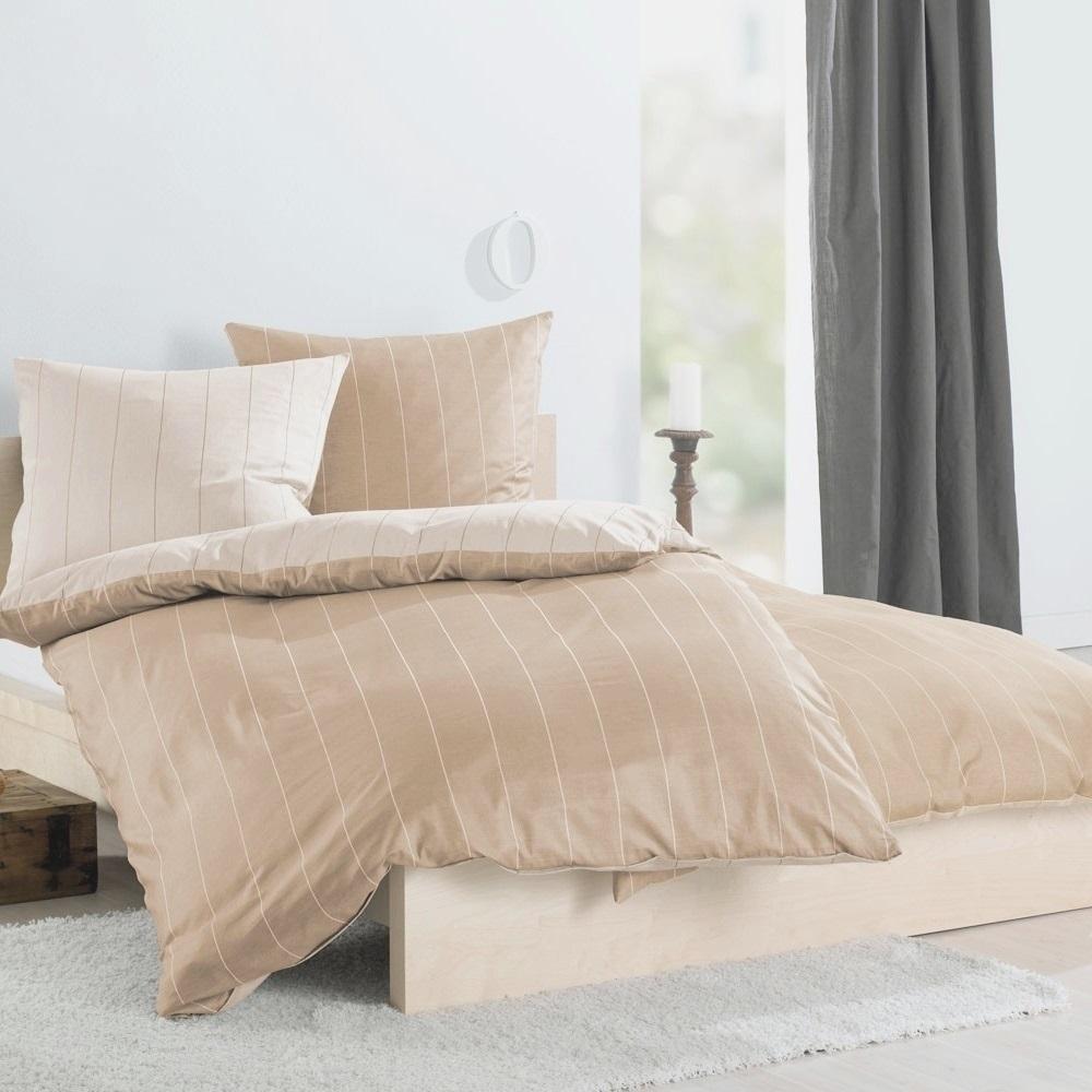 lorena wendebettw sche streifen satin beige wunschbettw. Black Bedroom Furniture Sets. Home Design Ideas