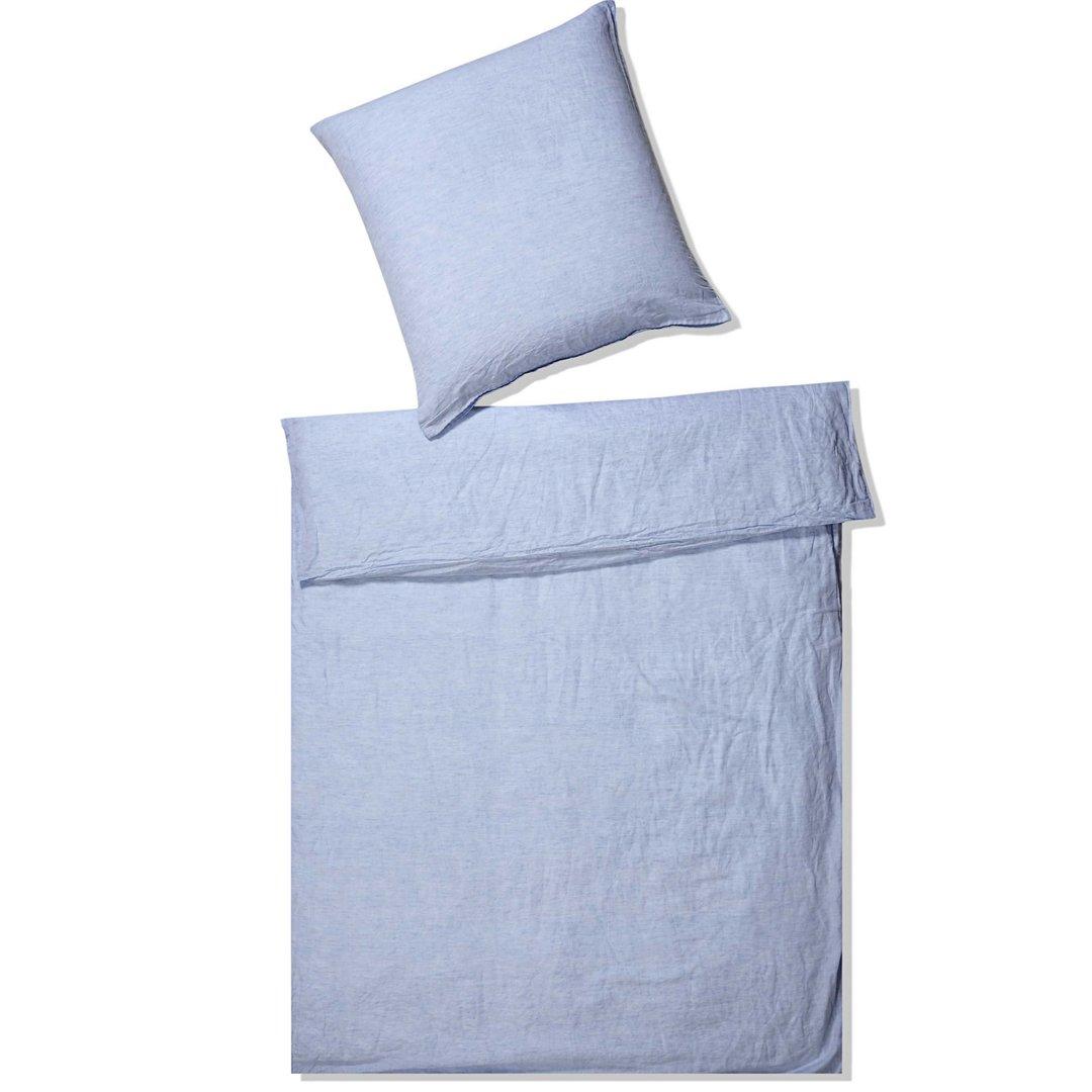 elegante halbleinen bettw sche breeze hellblau online bestellen. Black Bedroom Furniture Sets. Home Design Ideas