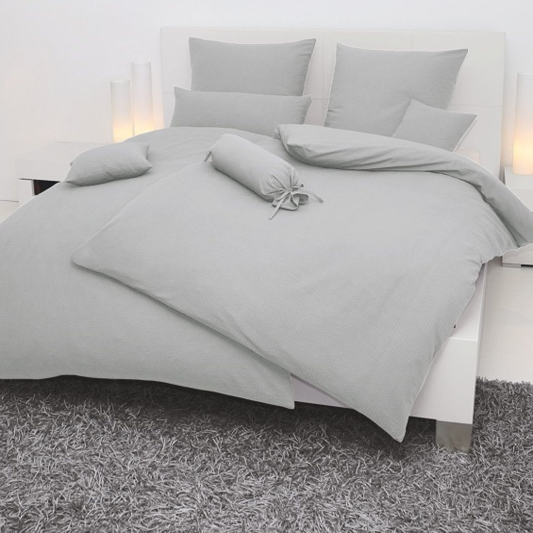 janine seersucker bettw sche platin onlineshop wunschbettw sche. Black Bedroom Furniture Sets. Home Design Ideas