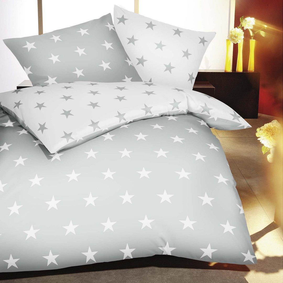 kaeppel bettw sche sterne silber www wunschbettw. Black Bedroom Furniture Sets. Home Design Ideas