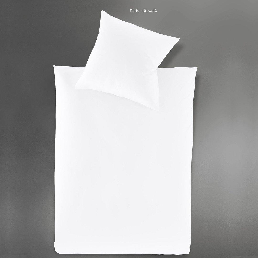 irisette uni satin bettw sche paris wei 200x200 inkl zwei 80x80 www wunschbettw. Black Bedroom Furniture Sets. Home Design Ideas