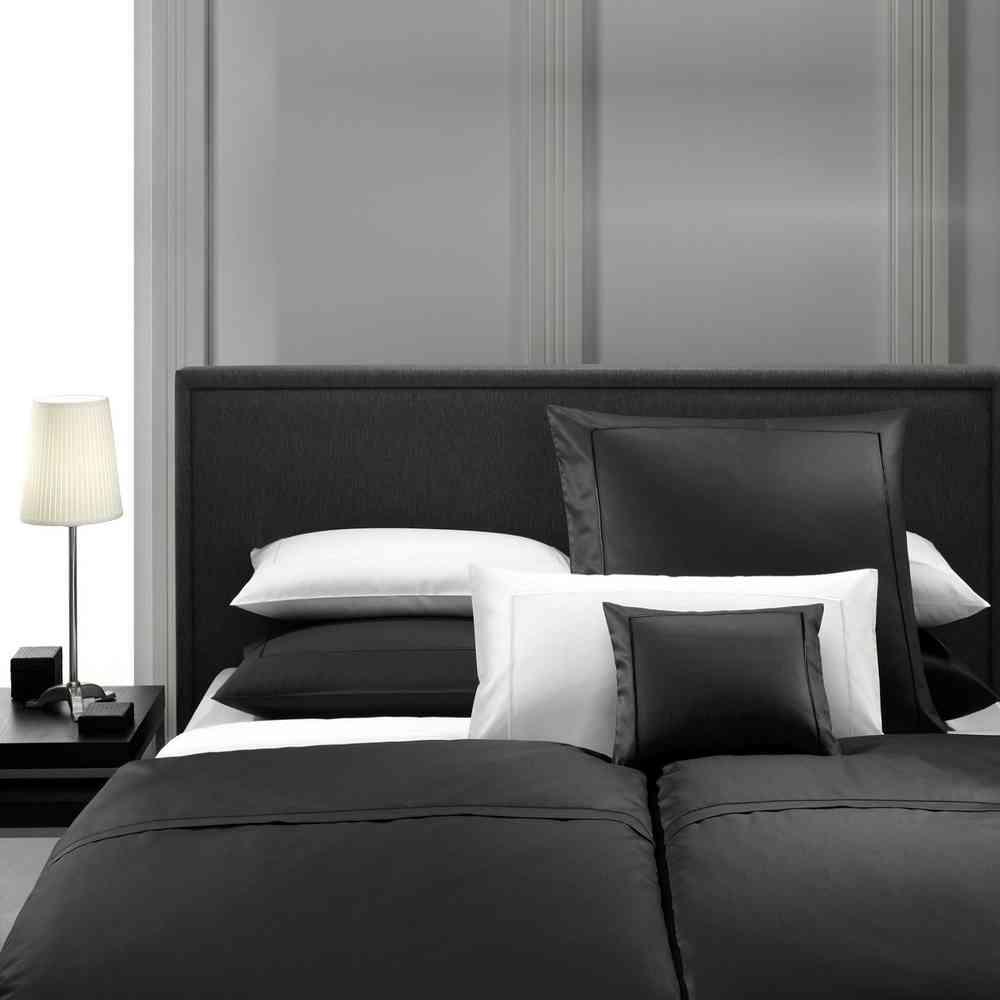 Mako Satin Bettwäsche 135 x 200 Weiß Uni Bettbezug Garnitur Bettbezüge Bettzeug
