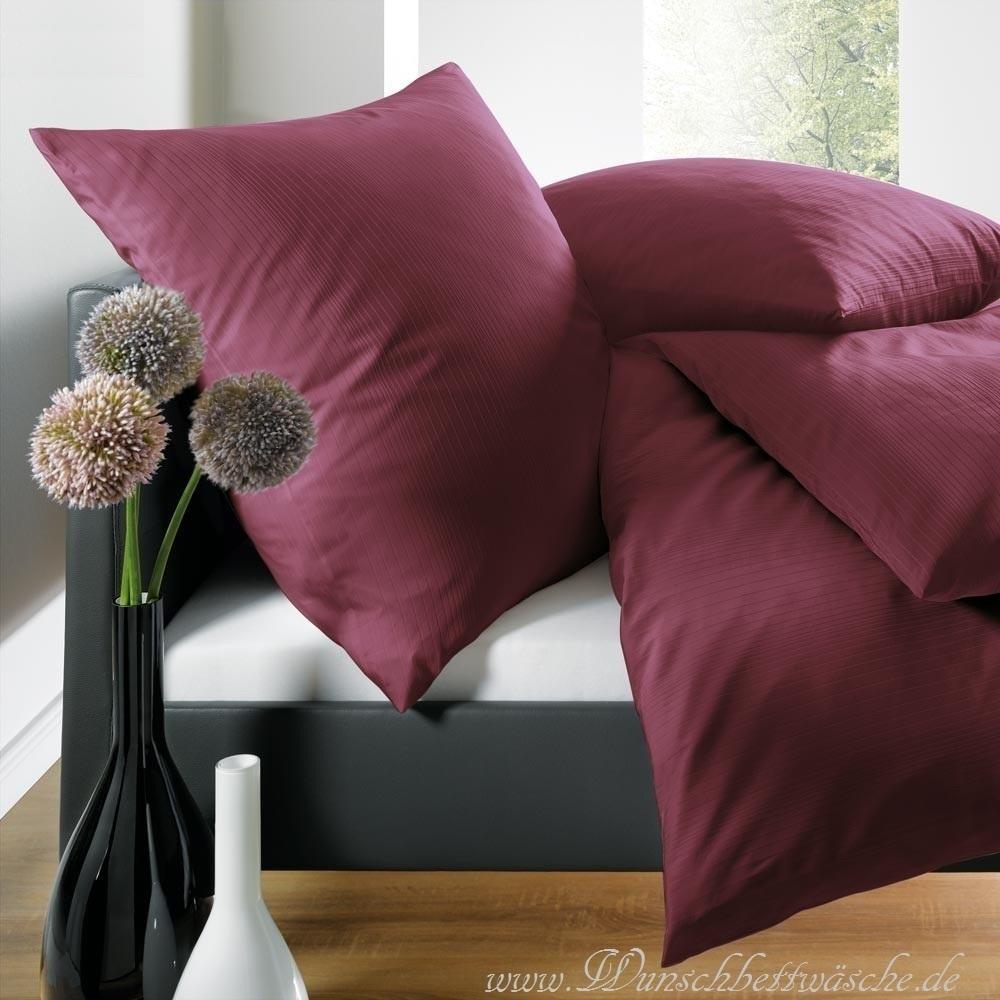 schlafgut uni mako satin bettw sche rot 200x200 inkl zwei 80x80 www wunschbettw. Black Bedroom Furniture Sets. Home Design Ideas