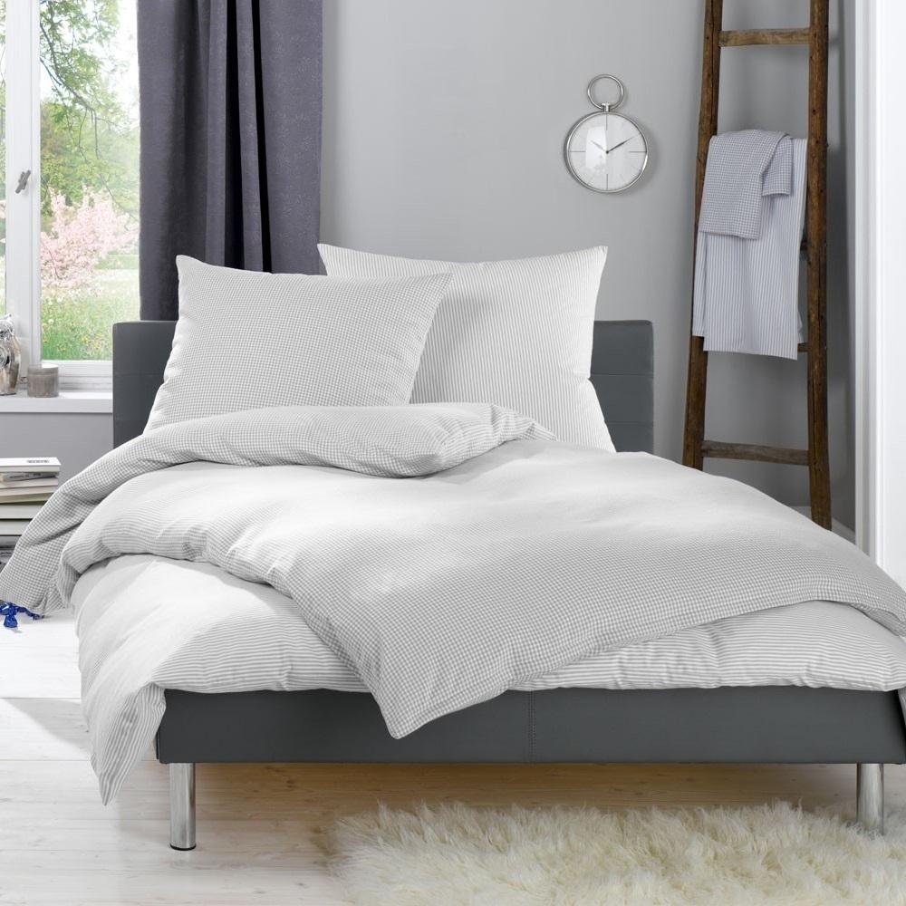 lorena feinflanell bettw sche daphne grau wunschbettw. Black Bedroom Furniture Sets. Home Design Ideas