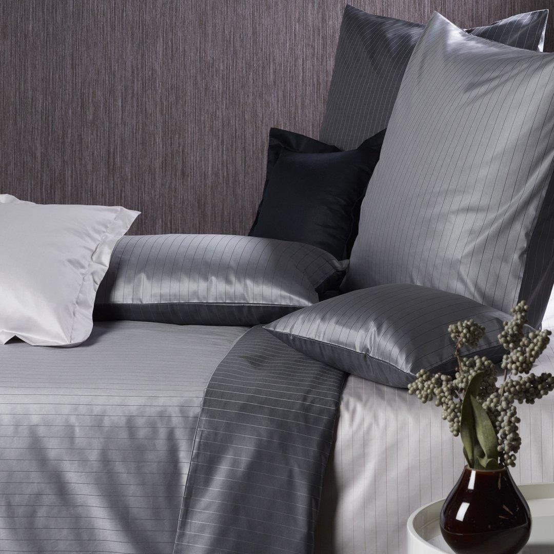 bauer brokat wendebettw sche ferrara stahlgrau. Black Bedroom Furniture Sets. Home Design Ideas