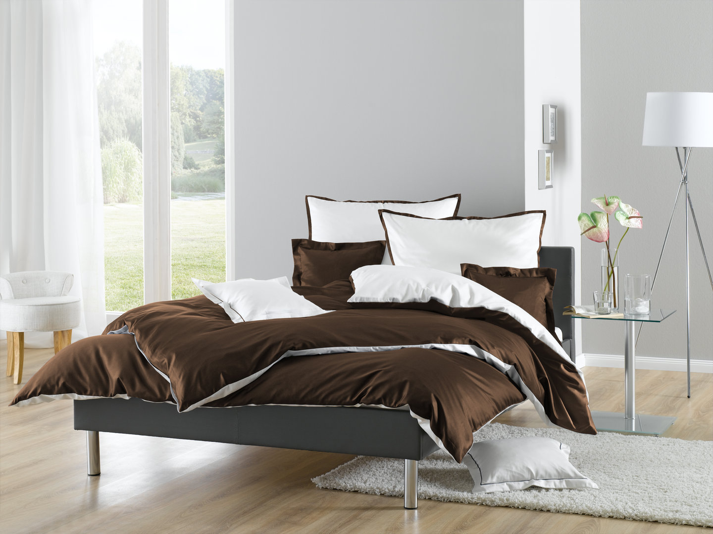 wendebettw sche mit stehsaum www wunschbettw. Black Bedroom Furniture Sets. Home Design Ideas