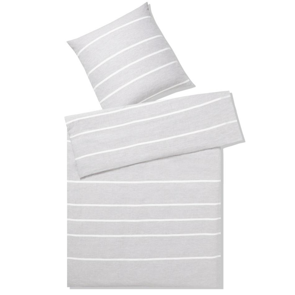 halb leinen bettw sche relax hellgrau www wunschbettw. Black Bedroom Furniture Sets. Home Design Ideas