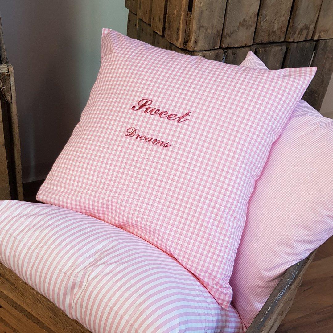 vichy karo kissenh lle sweet dreams 40x40 cm rosa. Black Bedroom Furniture Sets. Home Design Ideas