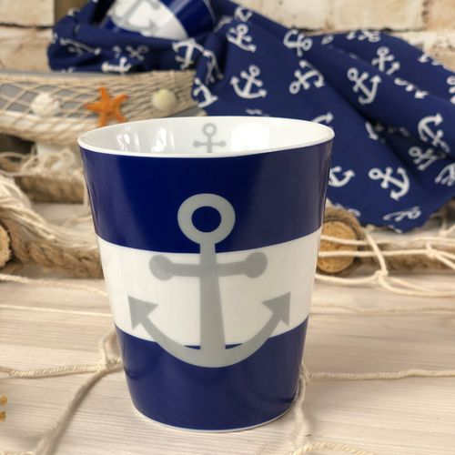 "Krasilnikoff Happy Mug ""Blue Anchor"" blau"