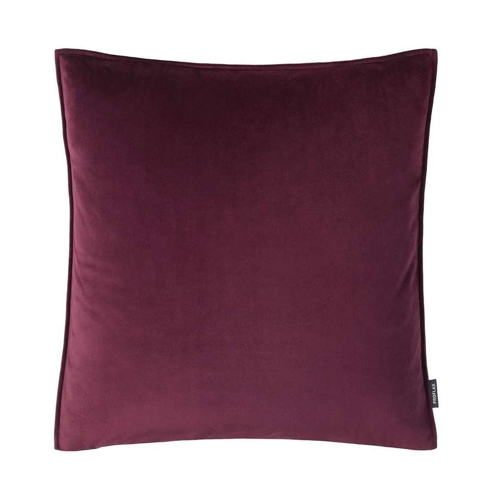 Proflax Samt Kissenbezug 50x50 Cm Farbe Aubergine