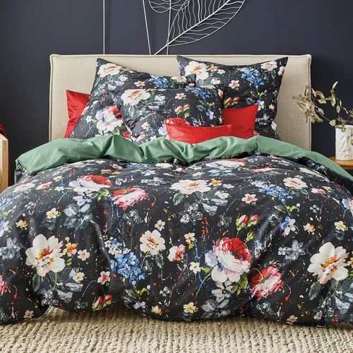Irisette Bettwäsche Set Opal 8817-99 black 135x200 cm