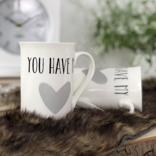 weisser Kaffeebecher | You have my..